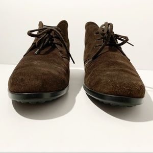 Tod's Shoes - TOD'S Made In Italy Brown Suede Leather Booties 7